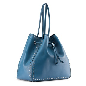 Borsa a secchiello bata, blu, 961-9314 - 13