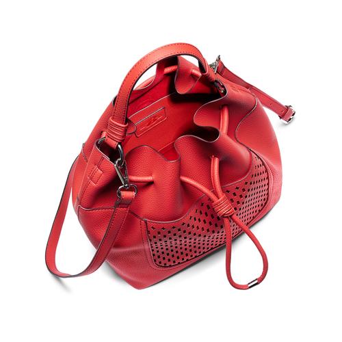 Borsa a secchiello bata, rosso, 961-5298 - 16