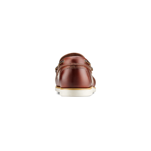 Mocassini in pelle bata, marrone, rosso, 854-5173 - 15