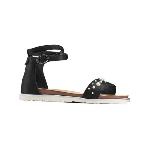 Sandali con perle bata, nero, 569-6356 - 13