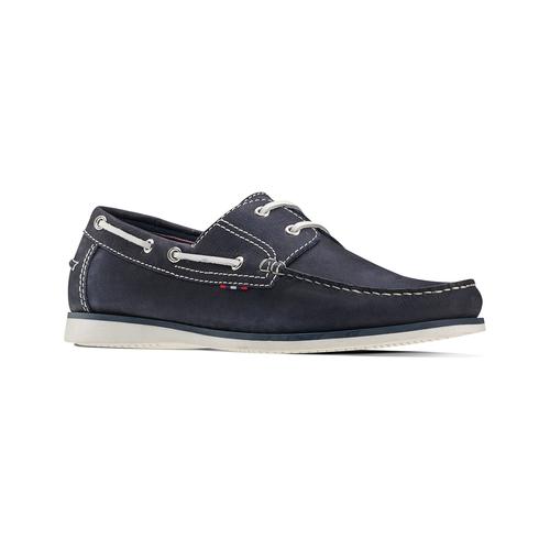 Scarpe da barca bata, blu, 854-9142 - 13