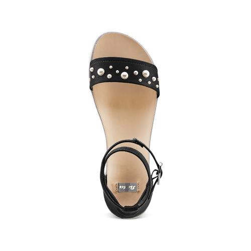 Sandali con perle bata, nero, 569-6356 - 17