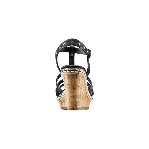 Sandali con borchie bata, nero, 761-6235 - 15