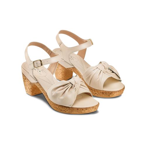 Sandali con fiocco bata-touch-me, beige, 664-2302 - 16
