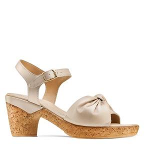 Sandali con fiocco bata-touch-me, beige, 664-2302 - 13