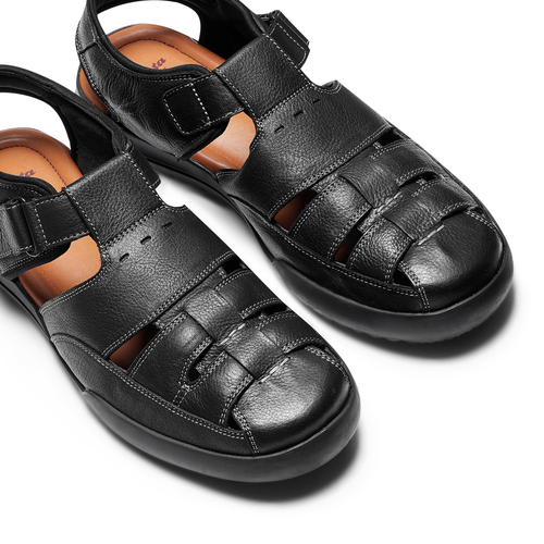Sandali da uomo bata-comfit, nero, 864-6126 - 26