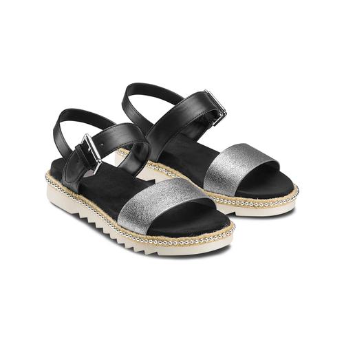 Sandali bassi bata, nero, 561-1361 - 16