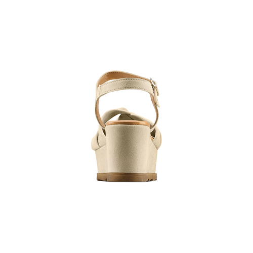 Sandali con fiocco bata, beige, 763-3271 - 15