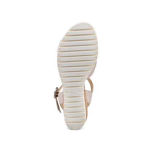 Sandali Insolia con zeppa insolia, beige, 769-2251 - 19