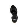 Sandali con zeppa  bata, nero, 769-6236 - 17