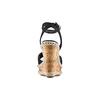 Sandali con zeppa  bata, nero, 769-6236 - 15