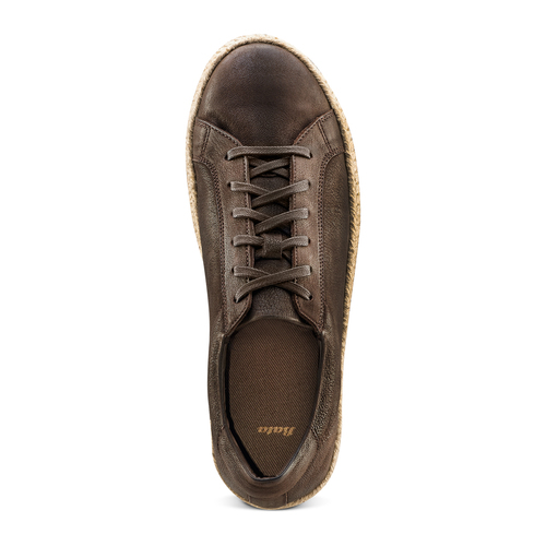 Stringate in pelle bata, marrone, 854-4206 - 17