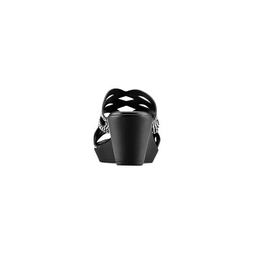 Ciabatte con strass bata, nero, 771-6112 - 15