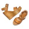 Sandali con zeppa bata, marrone, 764-3435 - 26