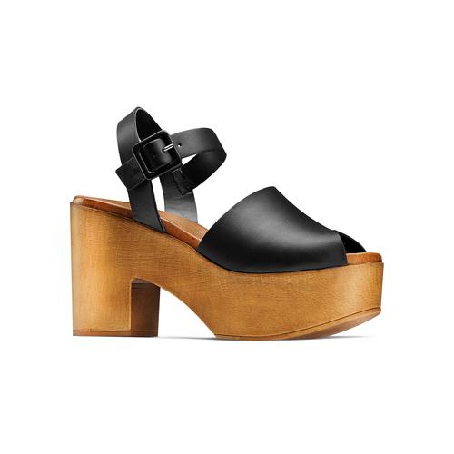 Sandali con tacco largo bata, nero, 764-6437 - 13