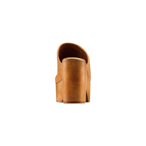 Mule con tacco largo bata, marrone, 764-3436 - 15