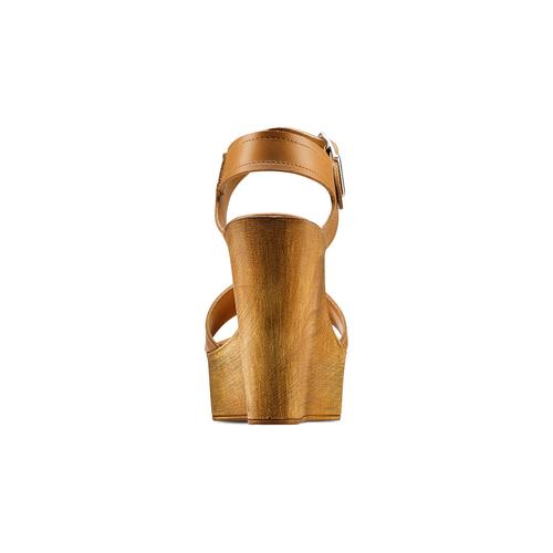 Sandali con zeppa bata, marrone, 764-3435 - 15