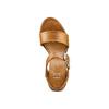 Sandali con zeppa bata, marrone, 764-3435 - 17