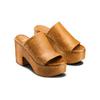 Mule con tacco largo bata, marrone, 764-3436 - 16