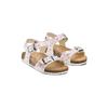 Sandali con stampa floreale mini-b, bianco, 261-1212 - 16