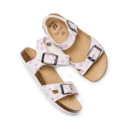 Sandali con stampa floreale mini-b, bianco, 261-1212 - 26