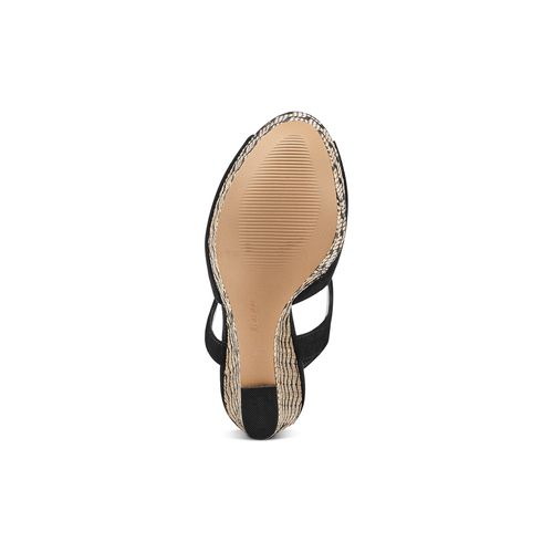 Sandali con zeppa insolia, nero, 769-6255 - 19