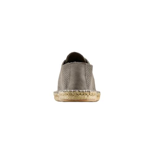 Stringate in suede bata, grigio, 853-2213 - 15