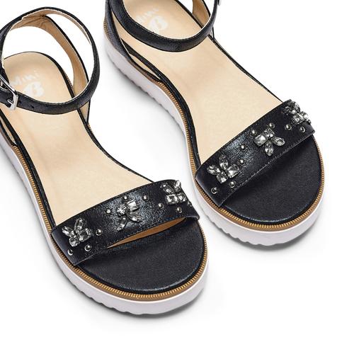 Sandali con applicazioni mini-b, nero, 361-6236 - 26