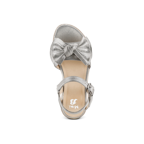 Sandali con fiocco mini-b, argento, 361-1223 - 17