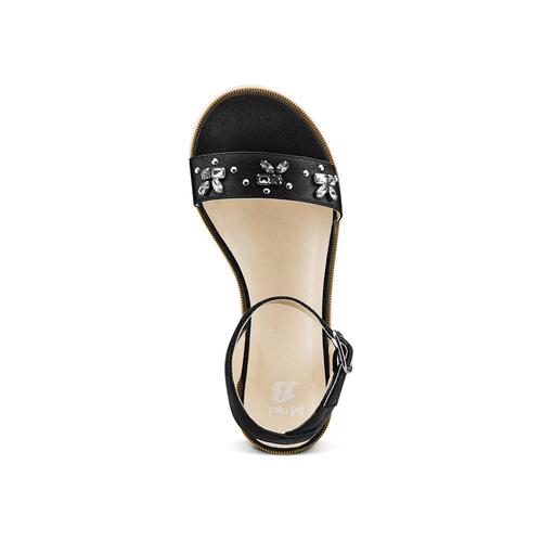 Sandali con applicazioni mini-b, nero, 361-6236 - 17