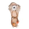 Sandali con lacci e applicazioni bata, beige, 561-8272 - 17