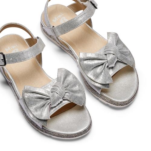 Sandali con fiocco mini-b, argento, 361-1223 - 26