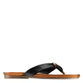 Infradito in pelle bata, nero, 564-6321 - 13
