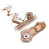 Sandali con lacci e applicazioni bata, beige, 561-8272 - 26