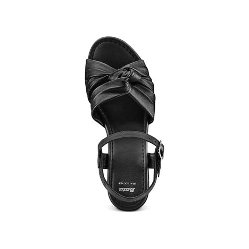 Sandali in pelle bata, nero, 764-6271 - 17