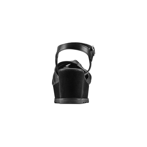 Sandali in pelle bata, nero, 764-6271 - 15