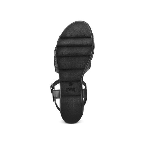 Sandali in pelle bata, nero, 764-6271 - 19
