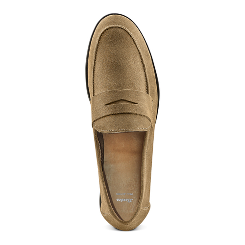 Mocassini in suede bata, beige, 853-8129 - 17