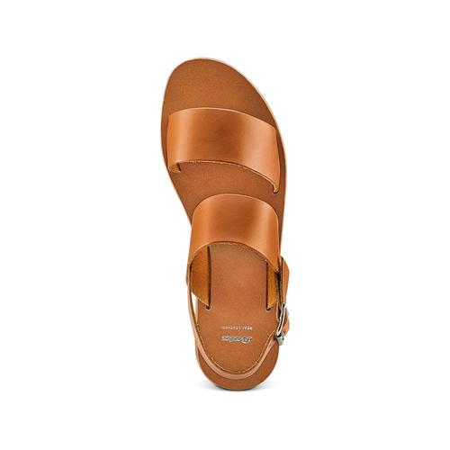 Sandali in pelle bata, marrone, 664-3150 - 17