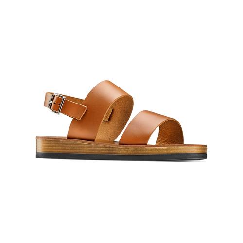 Sandali in pelle bata, marrone, 664-3150 - 13