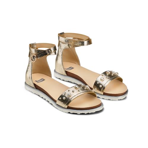 Sandali flati laminati bata, oro, 561-8356 - 16