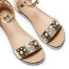 Sandali flati laminati bata, oro, 561-8356 - 26