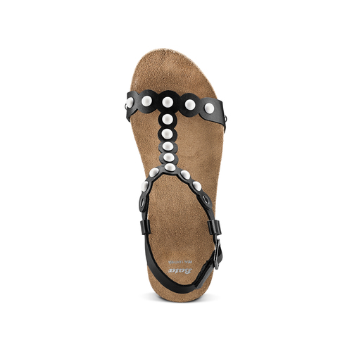 Sandali con applicazioni bata, nero, 661-6361 - 17