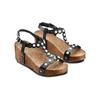 Sandali con applicazioni bata, nero, 661-6361 - 16