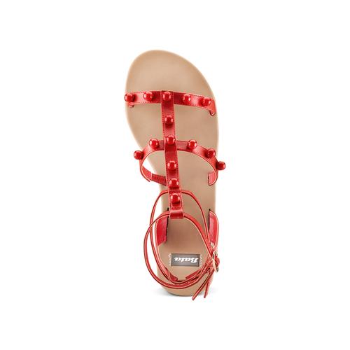 Sandali con doppio cinturino bata, rosso, 561-5542 - 17
