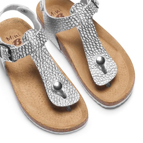 Sandali infradito da bambina mini-b, argento, turchese, 361-1250 - 26