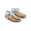 Sandali infradito da bambina mini-b, argento, turchese, 361-1250 - 16