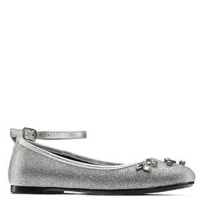Ballerine con cinturino alla caviglia mini-b, grigio, 329-2294 - 13
