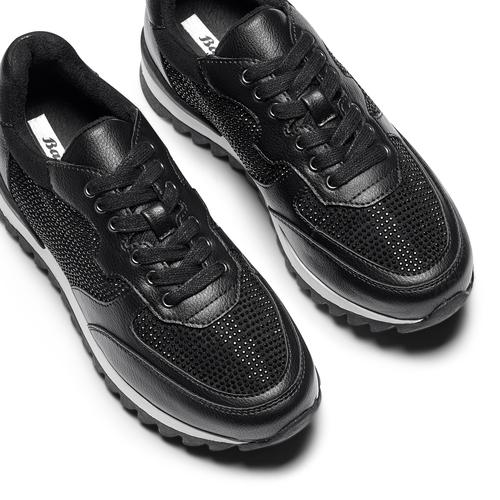 Sneakers con strass bata, nero, 541-6312 - 26