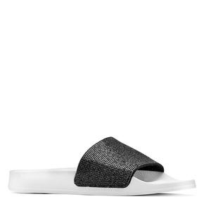 Ciabatte flat con strass  bata, nero, 571-6191 - 13